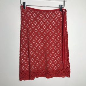 Max Studio embroidered lace overlay Sz 2